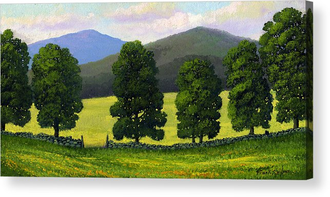 Landscape Acrylic Print featuring the painting Stonewall Field by Frank Wilson