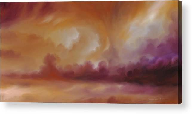 Tempest Acrylic Print featuring the painting Storm Clouds 2 by James Christopher Hill
