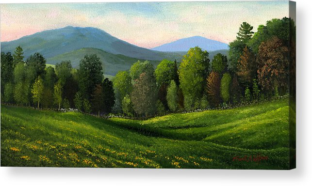 Landscape Acrylic Print featuring the painting Summers Ending by Frank Wilson