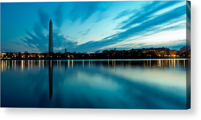 America Acrylic Print featuring the photograph Sunrise In The Capital by David Hahn