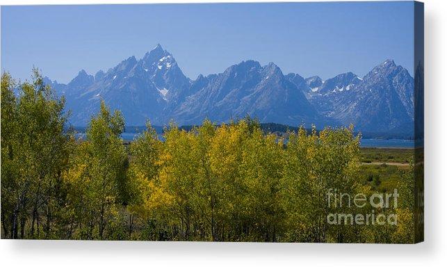 Teton Acrylic Print featuring the photograph Teton Range by Idaho Scenic Images Linda Lantzy