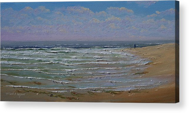 Seascape Acrylic Print featuring the painting The Beachcomber by Frank Wilson