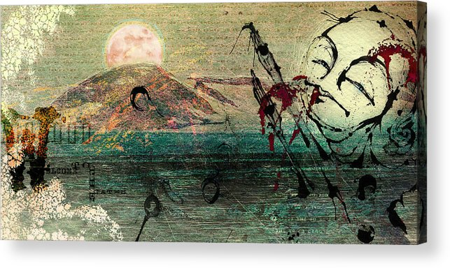 Digital Paintings Acrylic Print featuring the painting The Beginning by Mark M Mellon