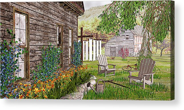 Adirondack Chair Acrylic Print featuring the photograph The Chicken Coop by Peter J Sucy