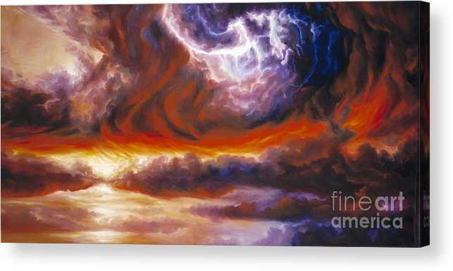 Tempest Acrylic Print featuring the painting The Tempest by James Christopher Hill