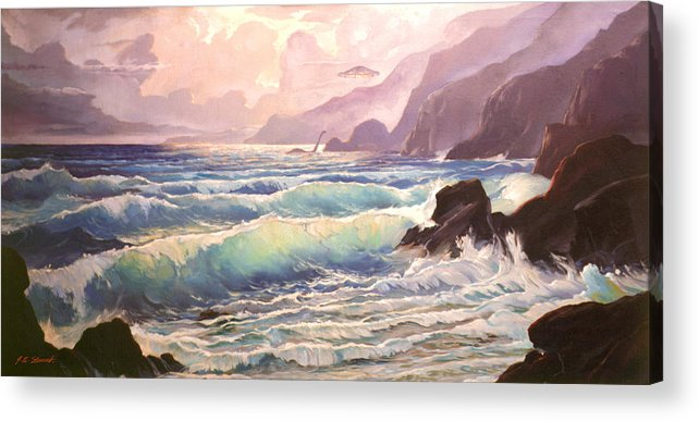 Visitor Acrylic Print featuring the painting The Visitor by John Norman Stewart