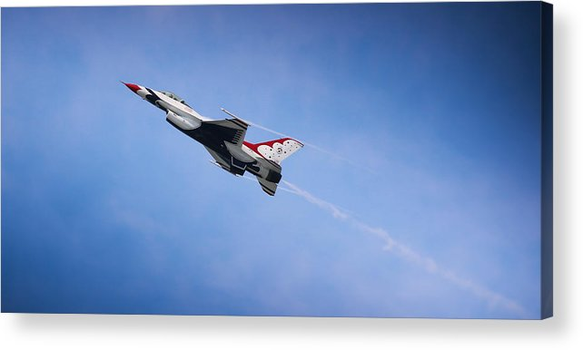 United States Air Force Thunderbirds Air Show Acrylic Print featuring the photograph Thunderbirds Soar by Joseph Semary