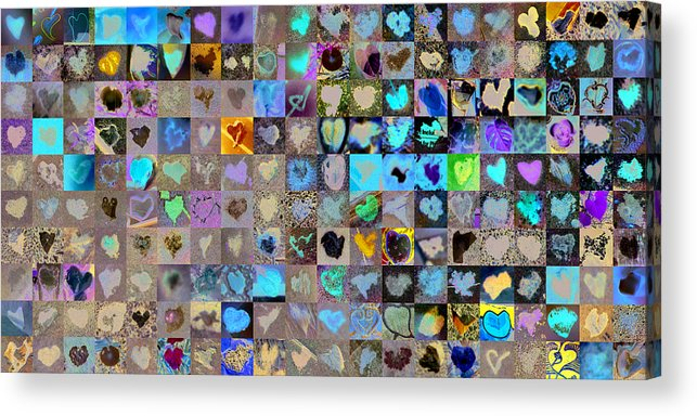 Heart Images Acrylic Print featuring the photograph Two Hundred And One Hearts by Boy Sees Hearts