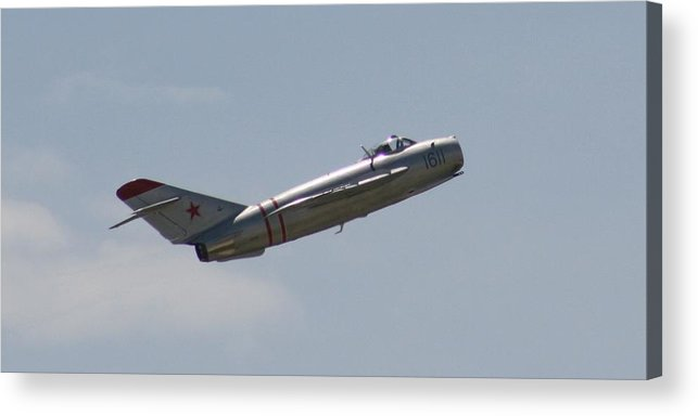 Airplane Acrylic Print featuring the photograph Wafb 09 Mig 17 Russian 4 by David Dunham