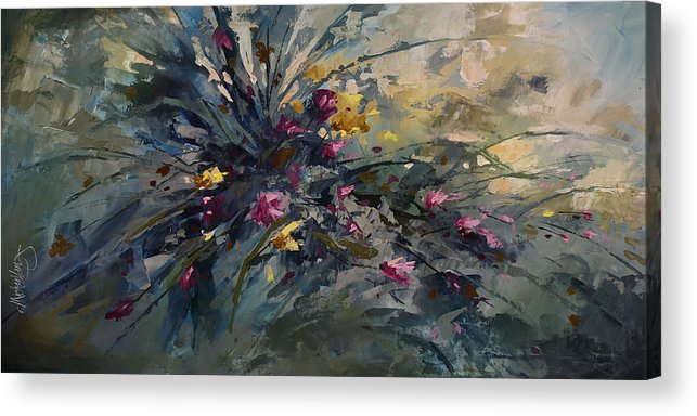 Flowers Acrylic Print featuring the painting 'wild Flowers' by Michael Lang