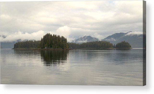 Placid Acrylic Print featuring the photograph Alaskan Island Reflection by Tom Wurl