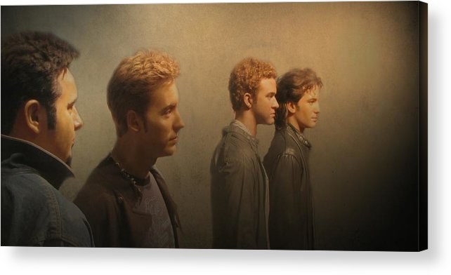 Nsync Acrylic Print featuring the photograph Back Stage With Nsync by David Dehner