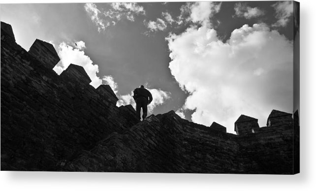 King Acrylic Print featuring the photograph I Am The King Of The World by Georgina Noronha