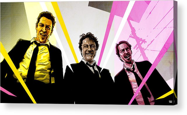 Digital Acrylic Print featuring the digital art Reservoir Dogs by Jeremy Scott