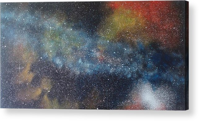 Space;stars;starry;nebula;spiral;galaxy;star Cluster;celestial;cosmos;universe;orgasm Acrylic Print featuring the painting Stargasm by Sean Connolly