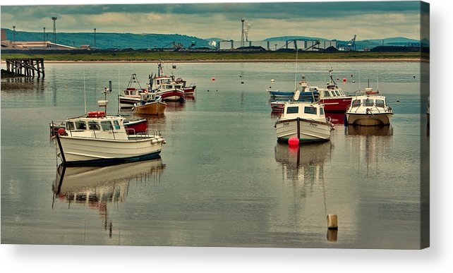 Paddys Hole Acrylic Print featuring the photograph Calm Waters by Trevor Kersley
