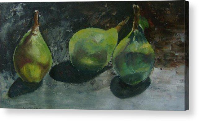 Pears Acrylic Print featuring the painting 3 Pairs by Ashwini Tatkar