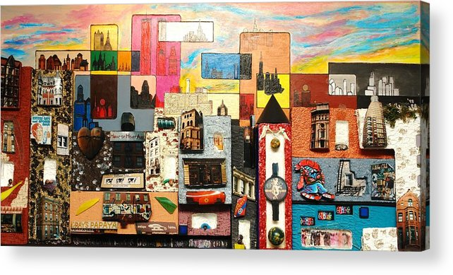 Acrylic Print featuring the painting 57th Street Kaleidoscope by Robert Handler