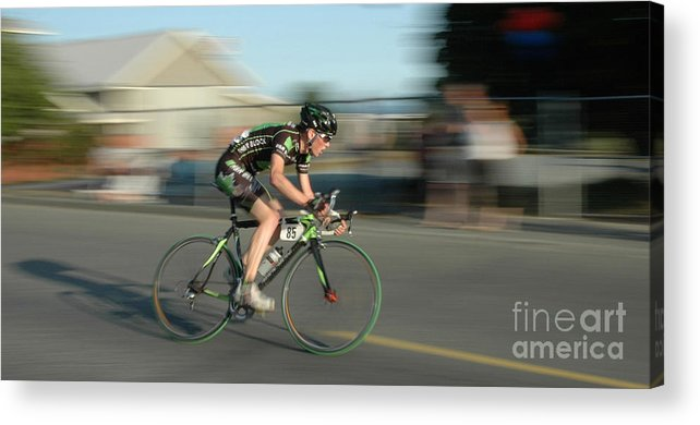 Bicycles Acrylic Print featuring the photograph Chasing The Pack by Vivian Christopher