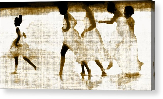 Flower Girl Acrylic Print featuring the digital art White Linen by Carrie OBrien Sibley