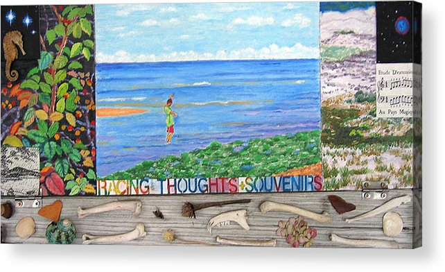 Cape Cod Acrylic Print featuring the painting I Sell Prints by Susan Stewart