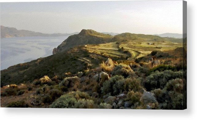 Landscape Acrylic Print featuring the digital art Plan E Landscape by Malinda Spaulding