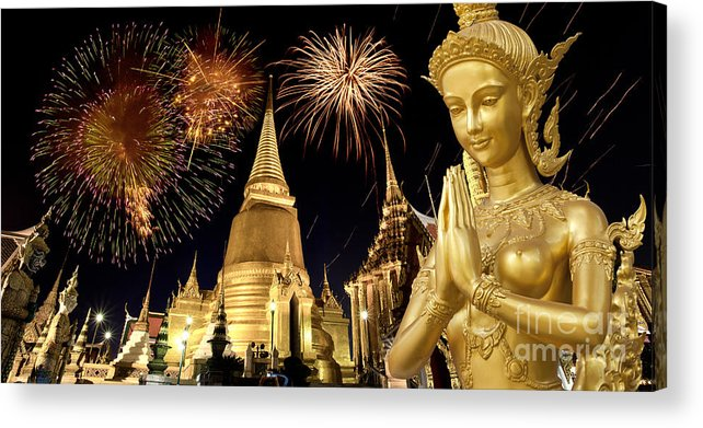 Ancient Acrylic Print featuring the photograph Amazing Thailand by Anek Suwannaphoom