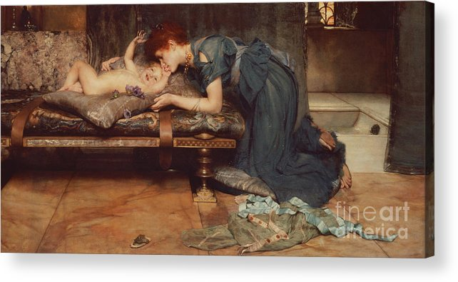 Earthly Acrylic Print featuring the painting An Earthly Paradise by Sir Lawrence Alma-Tadema
