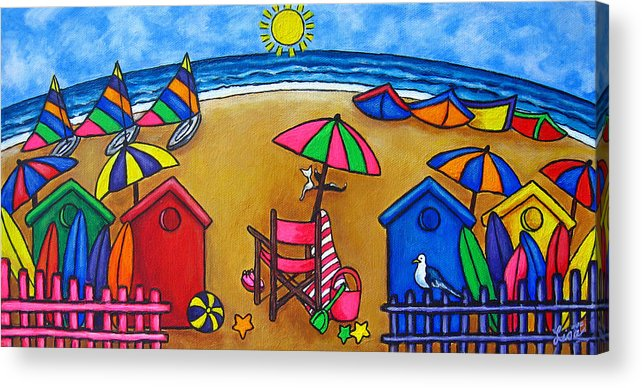 Beach Acrylic Print featuring the painting Beach Colours by Lisa Lorenz