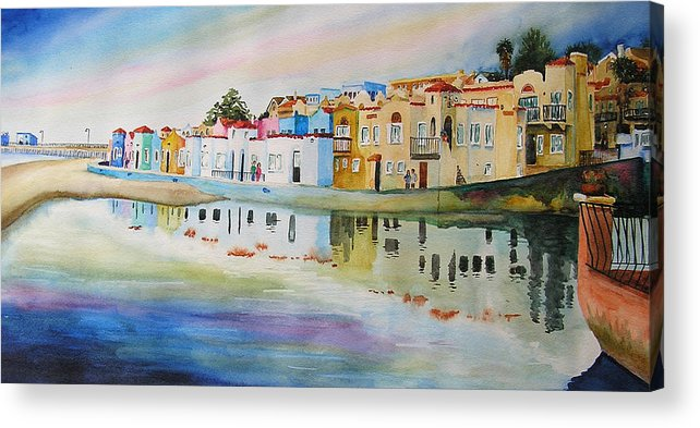 Capitola Acrylic Print featuring the painting Capitola by Karen Stark