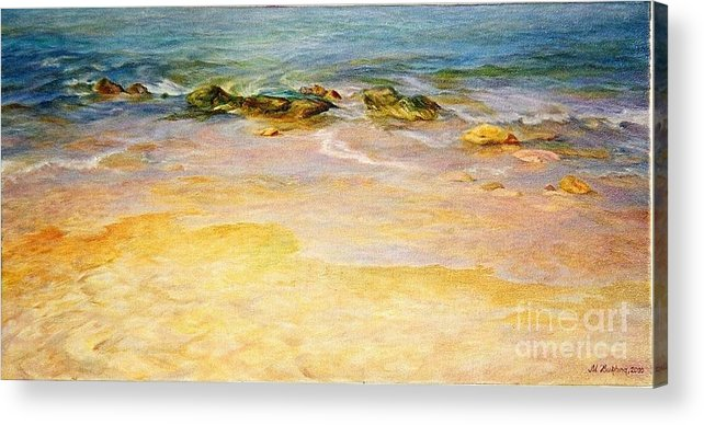 Sea Acrylic Print featuring the painting Comfort. by Maya Bukhina
