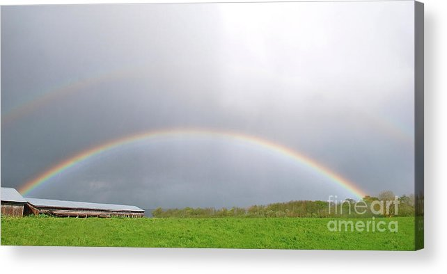 Rainbows Acrylic Print featuring the photograph Double The Pleasure by Lori Leigh