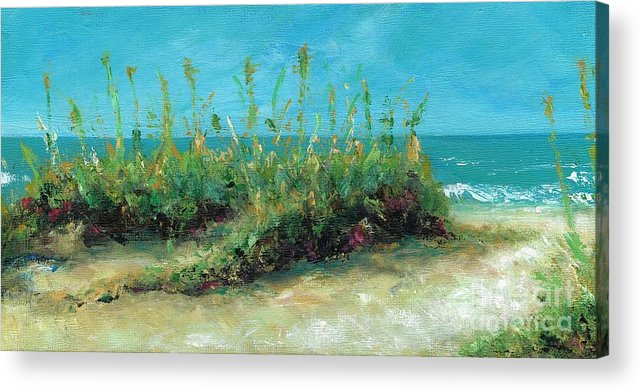 Beaches Acrylic Print featuring the painting Footprints In The Sand by Frances Marino