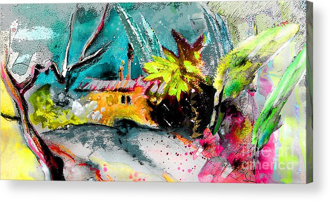 Pastel Painting Acrylic Print featuring the painting Glory Of Nature by Miki De Goodaboom