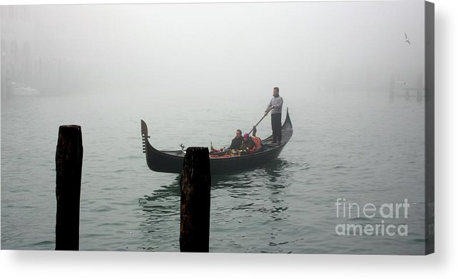 Italy Acrylic Print featuring the photograph Gondola In The Fog by Michael Henderson