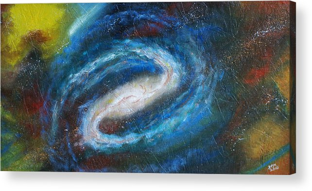 Milky Way Acrylic Print featuring the painting Home Is Where The Sun Is by David McGhee