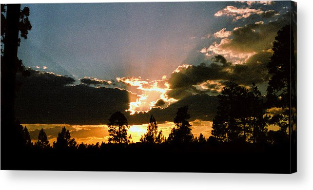 Arizona Acrylic Print featuring the photograph Inspiration Sunset by Randy Oberg