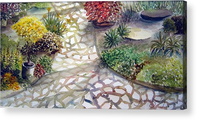 Garden Path Plants Acrylic Print featuring the painting Jennifers Garden by Joanne Smoley