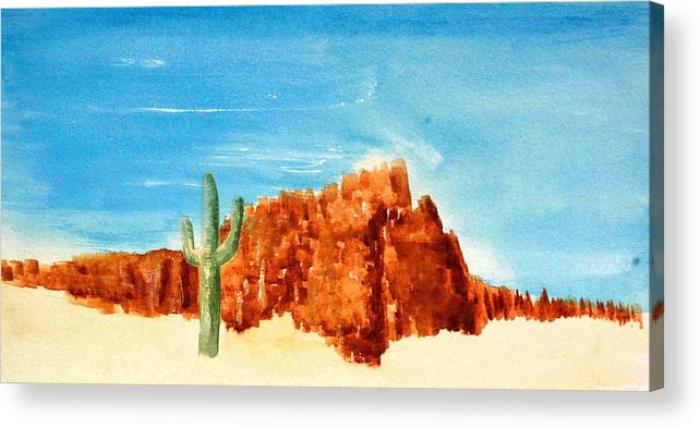 Acrylic Print featuring the painting Lone Sentry by David Keene