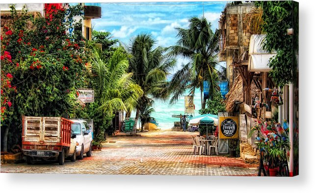 Mexico Acrylic Print featuring the photograph Mexican Side Street by Gina Cormier