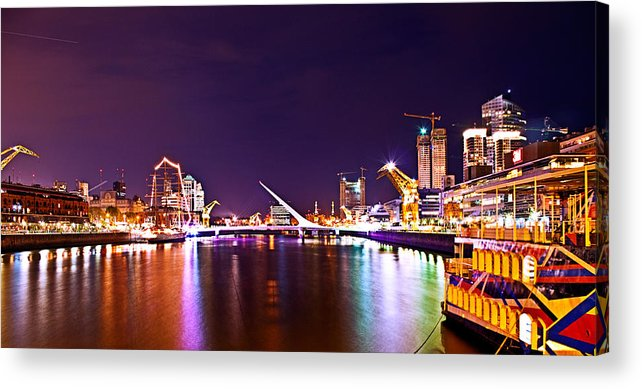 Buenos Acrylic Print featuring the photograph Nothing But Lights by Francisco Colon