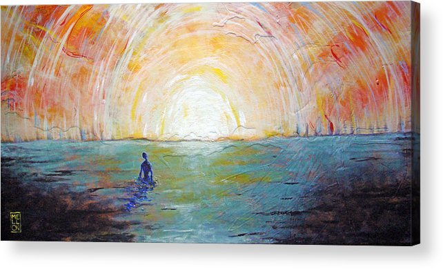 Landscape Acrylic Print featuring the painting Pleased To Drown by Mark M Mellon