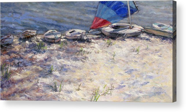 Sail Boats Acrylic Print featuring the painting Ready To Roll by L Diane Johnson