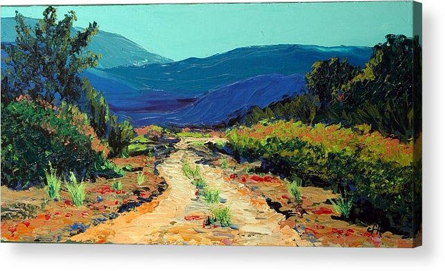 Landscape Acrylic Print featuring the painting Road Home by Cathy Fuchs-Holman