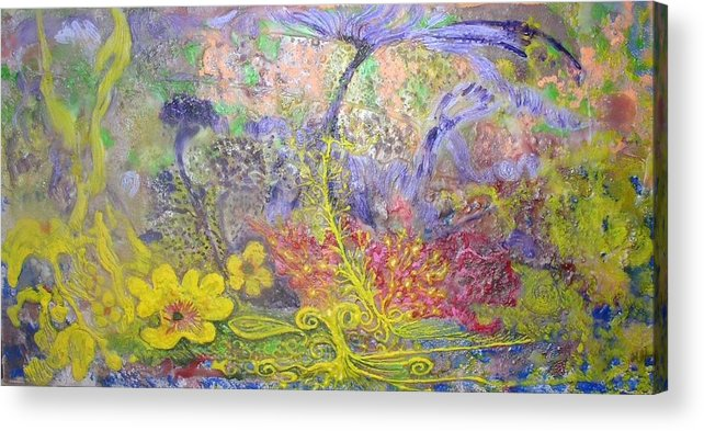 Acrylic Print featuring the painting Spirit Garden by Heather Hennick