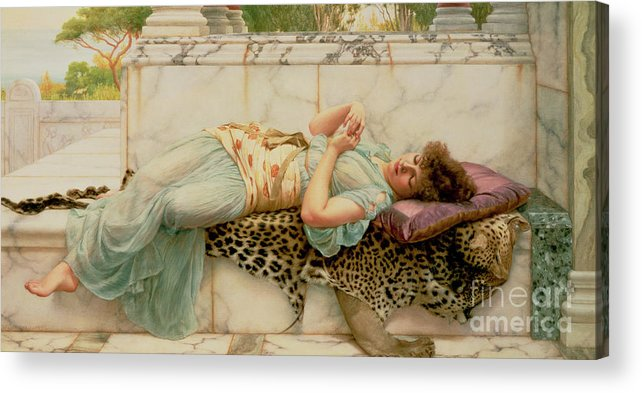 The Betrothed Acrylic Print featuring the painting The Betrothed by John William Godward
