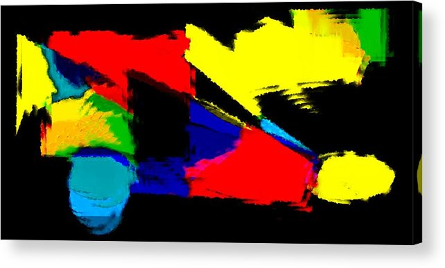 Abstract Acrylic Print featuring the painting Untitled Abstract 41 by Rene Avalos
