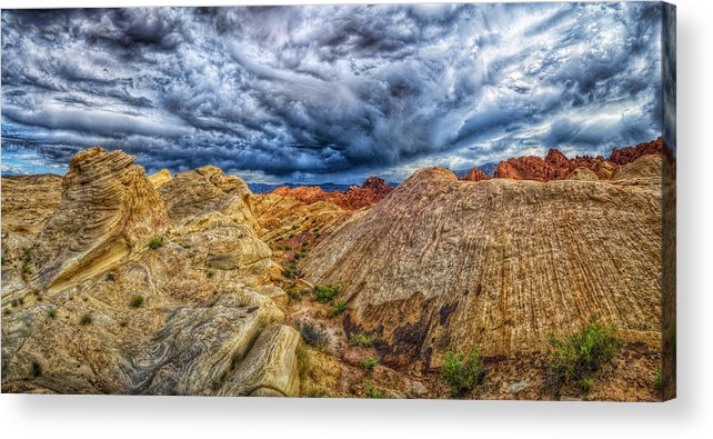 Hdr Panoramic Acrylic Print featuring the photograph The Hollow by Stephen Campbell