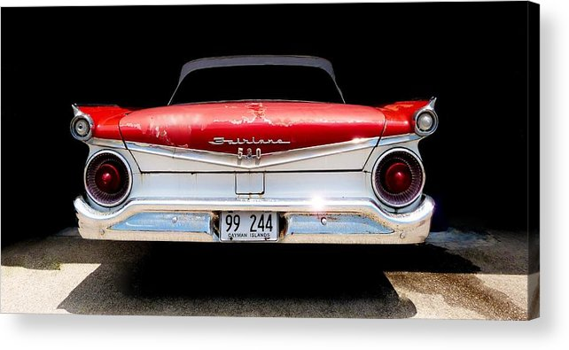 Color Acrylic Print featuring the photograph 59 Ford Galaxy 500 by Amar Sheow