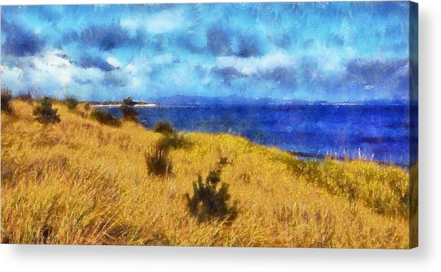 Fort Columbia Acrylic Print featuring the digital art Columbia River by Kaylee Mason